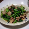 とう立ち菜と肉の炒め物